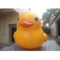 Weather - Resistant Interesting Inflatable Yellow Duck Air Tight / Sealed With Logo Printing Manufactures