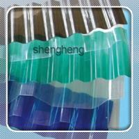 polycarbonate corrugated roofing sheet/skylight pc transparent roof sheet for greenhouse Manufactures