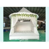 5x4 inflatable wedding white bouncy castle with flower decoration for wedding parties or events Manufactures