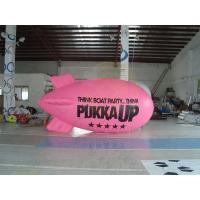 Inflatable Advertising Helium Zeppelin , Openning Events Pink PVC Inflatables Manufactures