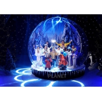 Custom LED 0.65mm PVC Inflatable Christmas Snow Globe Manufactures