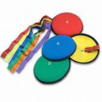 9-inch Frisbees with Colored Ribbon, Made of Neoprene Material Manufactures