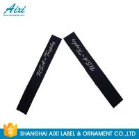 Garment Woven Clothing Label Tags Satin / Silk Printing Fast - Delivery Manufactures