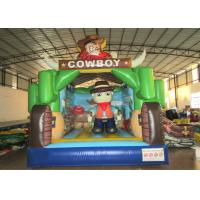 Kindergarten Baby Custom Made Inflatables Cowboy 5 X 4 X 4m Double Stitching Manufactures