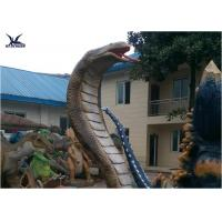 Buy cheap Artificial Waterproof Animatronic Animals Snake Statues With Mouth Open And from wholesalers