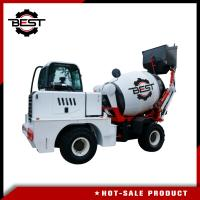 Buy cheap White Concrete Transit Mixer Truck With Moving Arm Self Propelled Concrete from wholesalers
