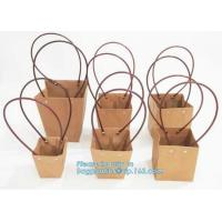 kraft paper laminated flower paper packaging carrier bag,Packing Colorful Waterproof Kraft Paper Gift Carrier Flower Bag Manufactures