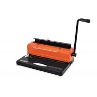 Desktop A4 Paper 14.3mm Wire Punching And Binding Machine For Office Manufactures