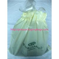 Recyclable Hotel Laundry Drawstring Plastic Bags With LDPE Material Manufactures