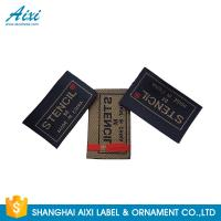 Clothes Brand Woven Clothing Label Tags , Customized Garment Private Lable Manufactures
