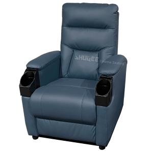 Genuine Leather Home Cinema Seats VIP Sofa With Inclined Cup Holder Manufactures