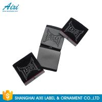 Black Color Personalized Custom Fabric Labels For Clothes , Logo Design Manufactures