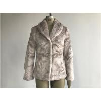 Mink Ladies Fake Fur Coats / Faux Fur Reverse Collar Luxe Coat TW64896 Manufactures