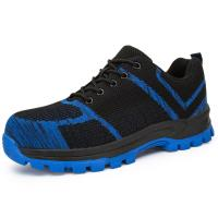 Slip Resistant Safety Footwear Trainers Suede Cow Leather Upper Material Manufactures