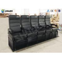 Electric Dynamic System 4D Cinema Equipment Red / Black Cinema Chair For Theater Manufactures