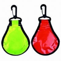 Promotional LED keychains, made of plastic, customized designs are accepted Manufactures
