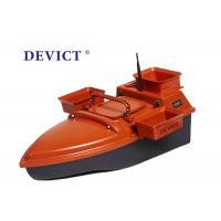 Buy cheap Orange remote control bait fishing boat DEVC-202 350M 3-4 Class Wave Resistance from wholesalers