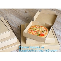7inch 9inch 10inch 12inch 16inch Handle Pizza Box Custom Printing For Take-Out CORRUGATED BOARD Manufactures