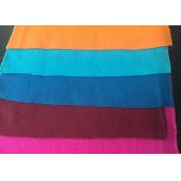 Plain Style Merino Wool Fabric Melton Cloth Fabric For Suit , Orange Blue Red Manufactures