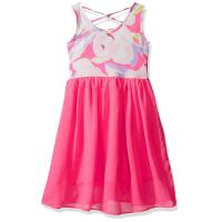 Floral Top Little Girl Summer Dresses Size 7 Chiffon Criss Cross Back Dress Manufactures