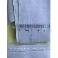 5mmSuper Twisted voile 2200 HTP spun polyester voile bluish white color dyeing soft finish with high cool quality 44inch Manufactures