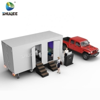 Mobile Simulator Mini 5d Cinema Trailer With Motion Chair Theater Manufactures