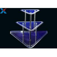 Clear 3 Layer Acrylic Wine Holder , Lucite Display Stands Durable And Chemical Stability Manufactures