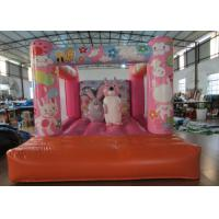 Custom Made Inflatable Small bouncer Pink inflatable rabbit Jump house on sale Manufactures