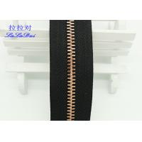 Custom Normal Teeth Long Chain Zipper In Roll Black Polyester Tape For Pants Manufactures
