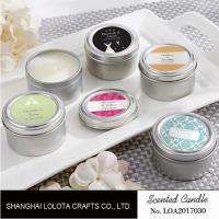 Chemical Free Scented Luxury Soy Candles , Personalised Tin Candles For Bathroom Manufactures