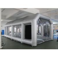 Outdoor Inflatable Spray Booth With Two Blowers Removeable Filter Manufactures