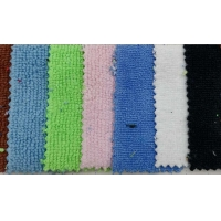 80% polyester 20% nylon strong absorbent towel fabric, warp knitted polyester and nylon double-sided terry clo Manufactures