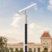 Buy cheap China Robotic self cleaning high power LED Pole solar power aluminum lithium from wholesalers