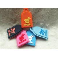 SGS Personalized Promotional Gifts / Multi - Colored Embossed Or Debossed Silicon PVC Keychain Manufactures