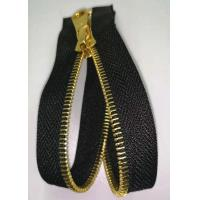 Open End Brass Metal Teeth Zipper With Shiny Gold Color For Home Textile Manufactures