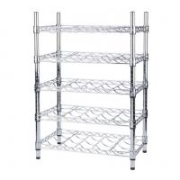 Wine Bottle Cradle Stainless Steel Kitchen Shelves For Bottle Collection Securely Store Manufactures