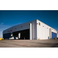 light prefabricated construction steel structure aircraft hangar design