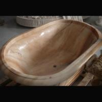 Buy cheap Home deocration pink marble bathtub with polish surface for bathroom,china from wholesalers