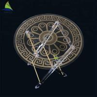 Buy cheap Environmental Custom Acrylic Furniture Round Shape Gold Color Foldable Outdoor from wholesalers