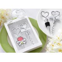 Heart Shaped Personalized Corkscrew Bottle Opener And Sealer With Packaging Box Manufactures