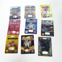 Buy cheap Man Sex Paper Card Blister Pack Packaging Burro Rhino Black Mama Packing Single from wholesalers