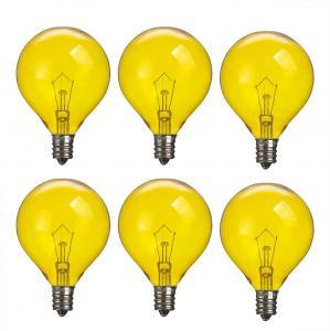 Wax Warmer Bulbs Dimmable Incandescent Light Bulb filament , G50 Round 25 Watt Colored standard light bulb Manufactures