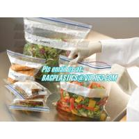 double track custom printing freezer zipper bags, Resealable clear PE double sealed zipper bag wholesales, FDA food pack Manufactures