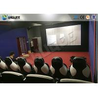 Park 9D Cinema Seat With Electric / Pneumatic System Round Screen Manufactures
