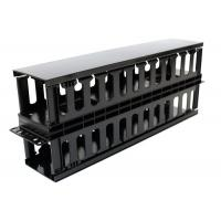 Plastic Dual Sided Finger Duct Cable Management , Horizontal Rack Mount Brush Panel Manufactures