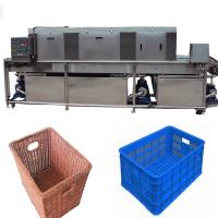 Vegetable Storage Plastic Crate Cleaning Machine , Turnover Industrial Crate Washers Manufactures