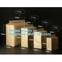 Kraft Paper Side Gussets Bag Take-Out Snack Cookie Tea Packaging Paper Storage Bag Open Top Heat Sealing Bag Manufactures