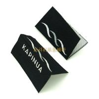 Centrefold Woven Clothing Labels Low Minimum With Logo For Damask Textile Products Manufactures