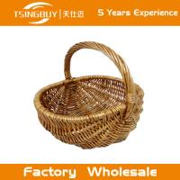 Factory wholesal 100% nature handcraft rattan wicker picnic basket-Food Save Natural Wicker Bread Basket Manufactures
