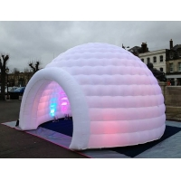 3m 4m 5m Oxford Cloth White With LED Light Use Blow Up Inflatable Igloo Dome Tent For Party Event Manufactures